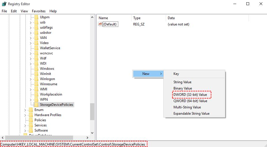 Click On DWORD 32-Bit Value