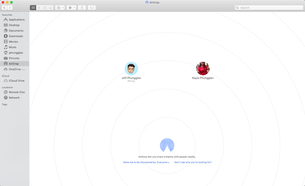 Importing Photos From iPhone To Mac Using AirDrop