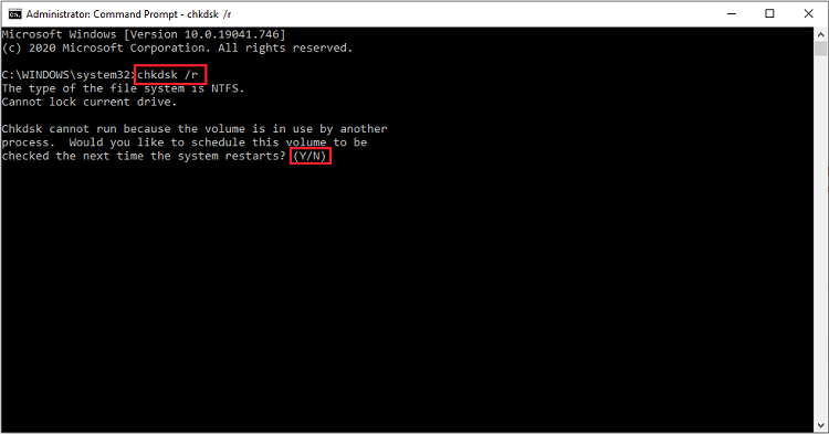 chkdsk r command in command prompt