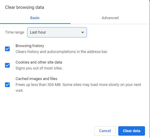 Select Time Range Of Eradicating The Browsing Data