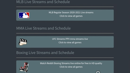 CrackStreams - Great Free Sports Streaming Site