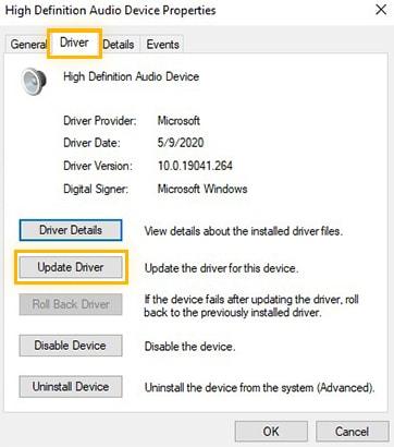Update HD Audio Driver