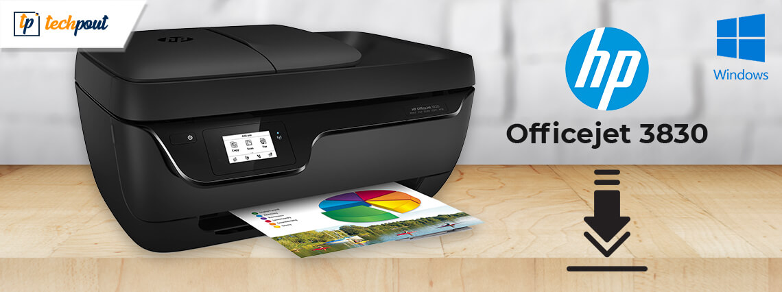 HP OfficeJet 3830 Driver Download For Windows 10, 8, 7