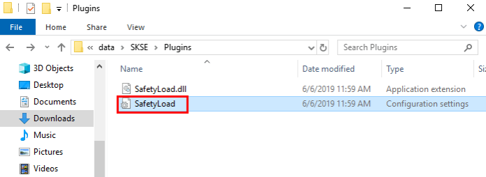 launch SafetyLoad.in file