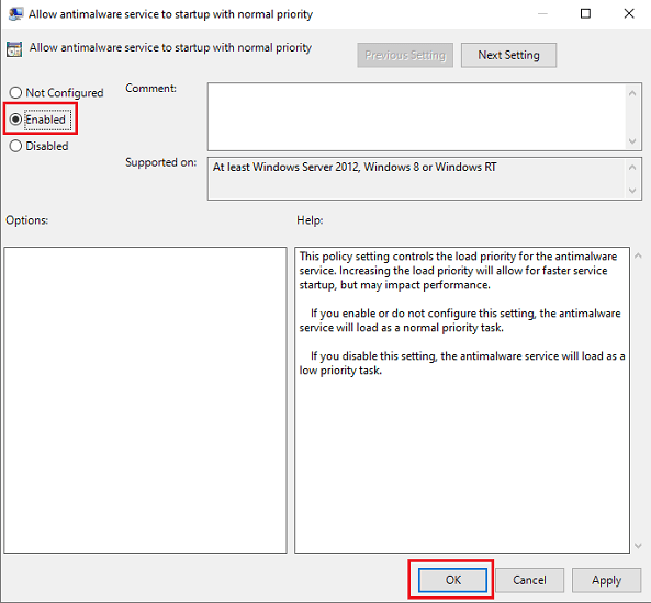 enable Turn off Microsoft Defender Antivirus