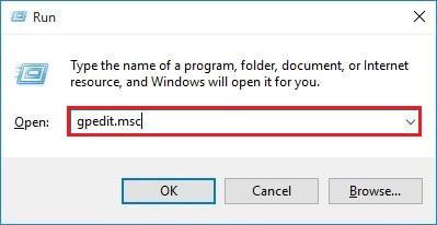 type gpedit.msc in run utility