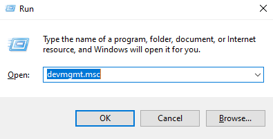Windows logo key and R key together to open the Run dialog box