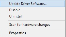 choose update driver
