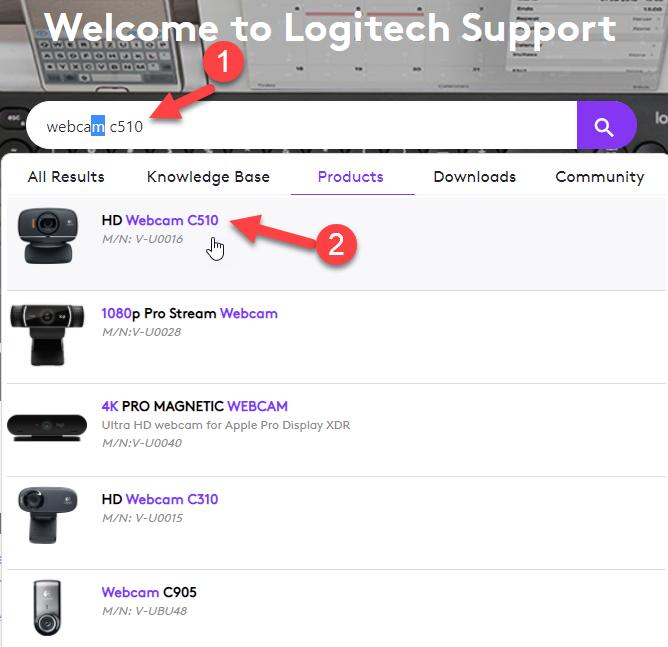 Logitech Support window