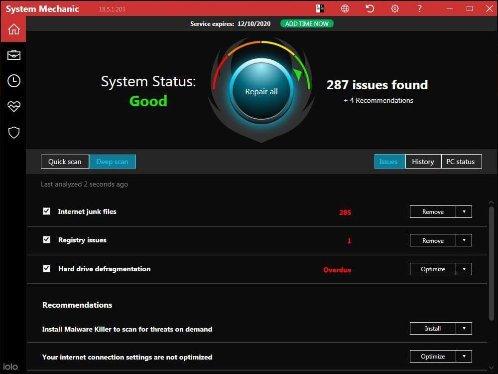 System Mechanic software for Optimize Windows PC
