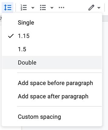line spacing options Windows