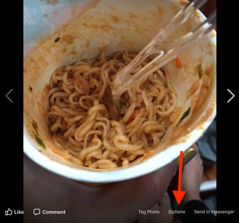 Facebook image option