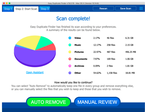 Start Scan in Easy Mode of Easy Duplicate Finder