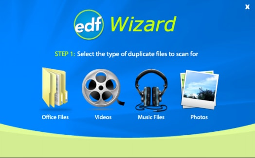 Open Wizard Option of Easy Duplicate Finder