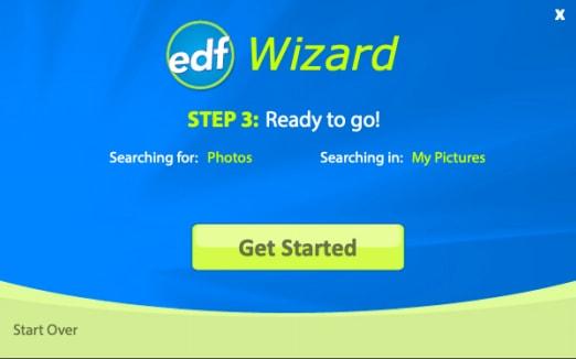 Get Started option easy duplicate finder