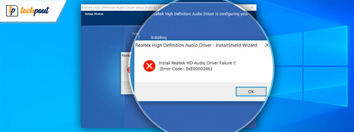 How to Fix Install Realtek HD Audio Driver Failure in Windows 10