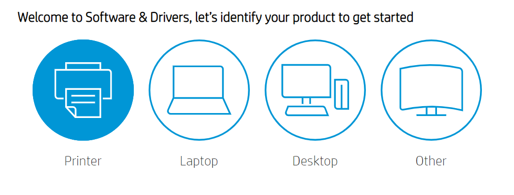 choose the product for which you want to download drivers