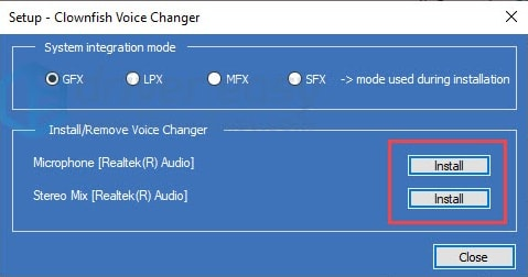choose the microphone which is functioning well