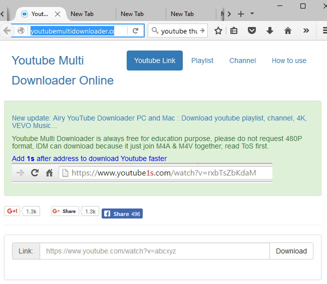 open YouTube Multi Downloader and select the 'playlist downloader