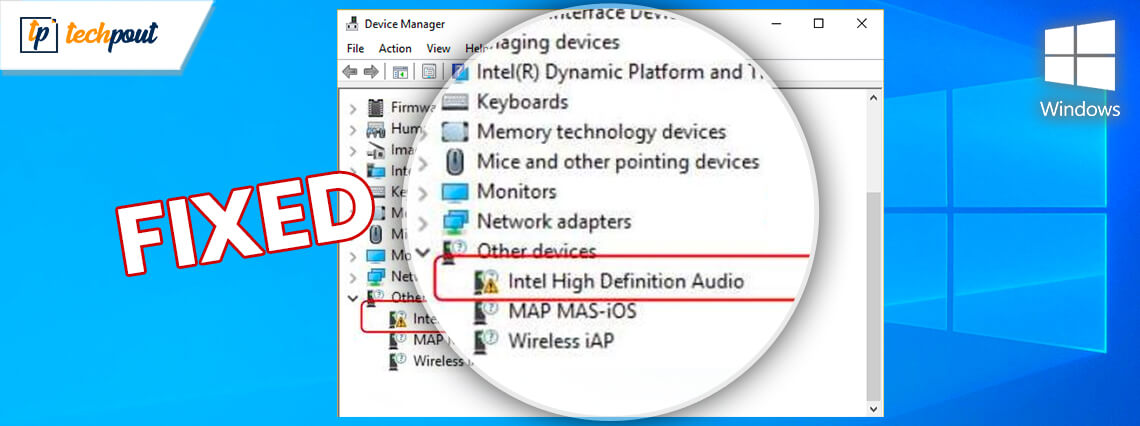 Intel High Definition (HD) Audio Driver Issue on Windows 10 [FIXED]