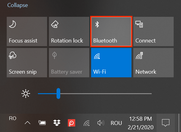 On Bluetooth Connection