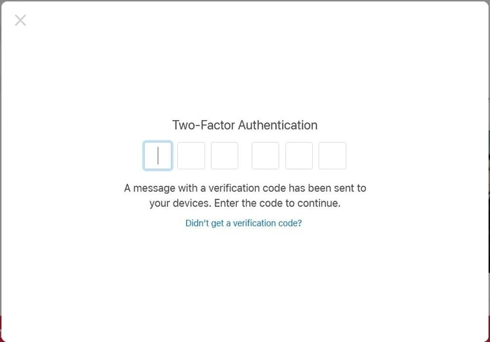 need to verify it's you by entering the OTP