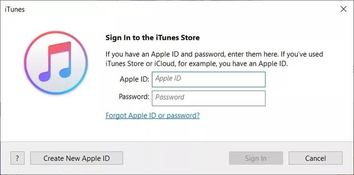 sign in with your Apple ID and password