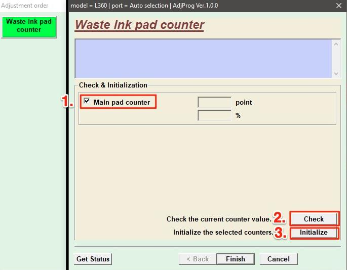 tick the checkbox next to Main pad counter option