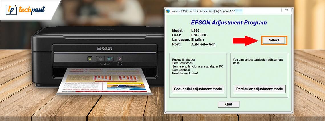 Epson L360 Resetter Tool Free Download | Epson Adjustment Program