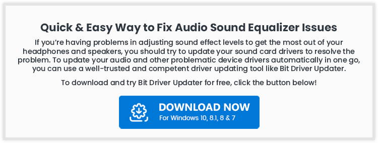 Quick & Easy Way to Fix Audio Sound Equalizer Issue - MSG