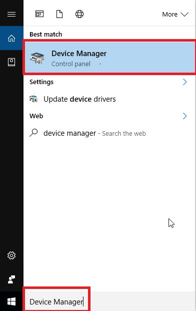 Choose The Device Manager