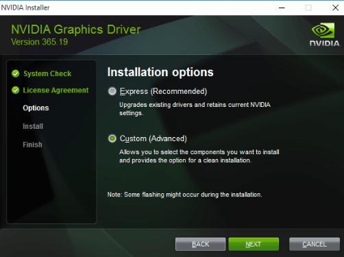 select the Custom Install option