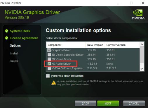 unmark the other driver files