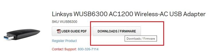 click on the Downloads/ Firmware