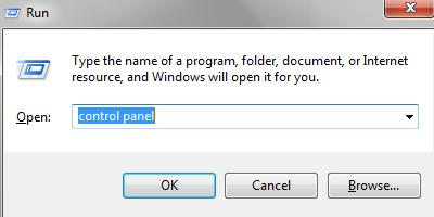 write the Control Panel
