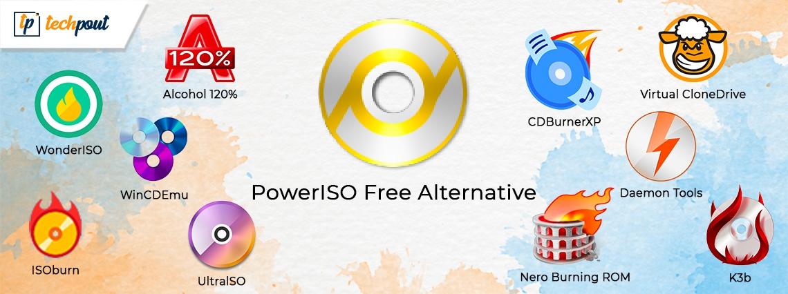 10 powerISO Free Alternative Software for Windows in 2021