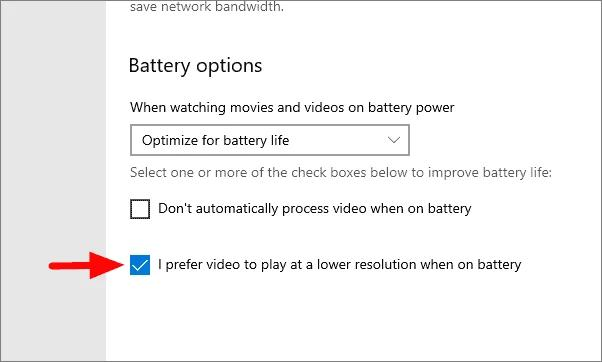 Check The I prefer video to play at a lower resolution Option