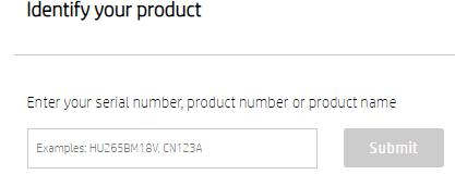 type the product name and click on Submit Button
