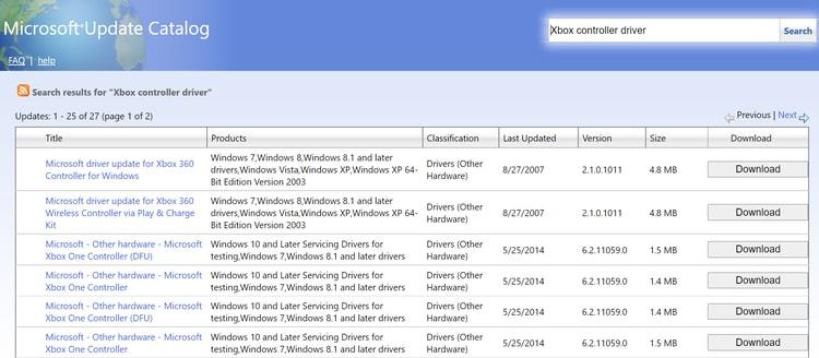 micorosoft update catalog