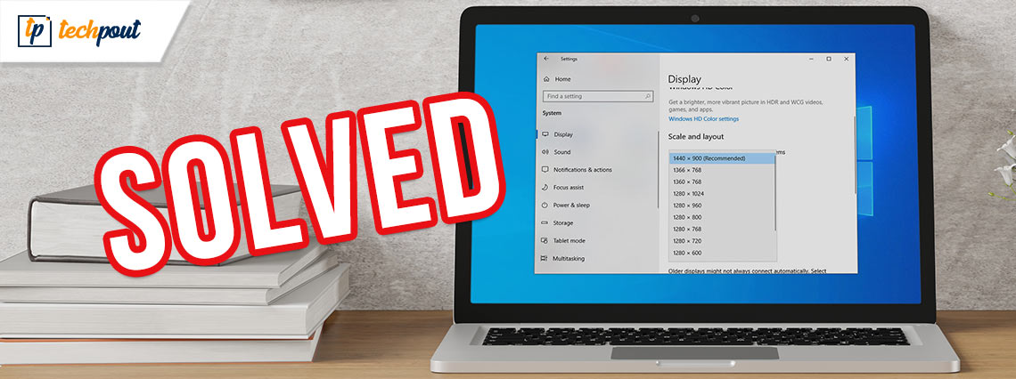 Stretched Screen Horizontally Issues in Windows 10 [Solved]
