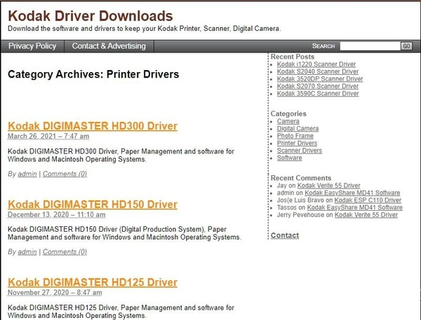 Download The Driver by Clicking The Download Option