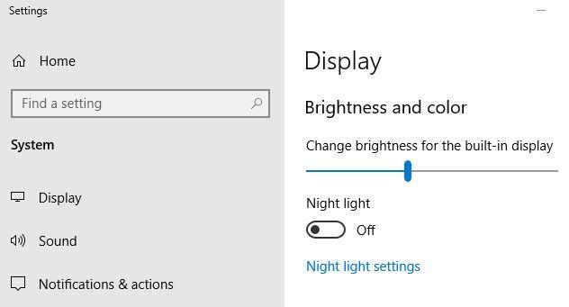 "Adjust Brightness Level"" Slider to change the brightness level"