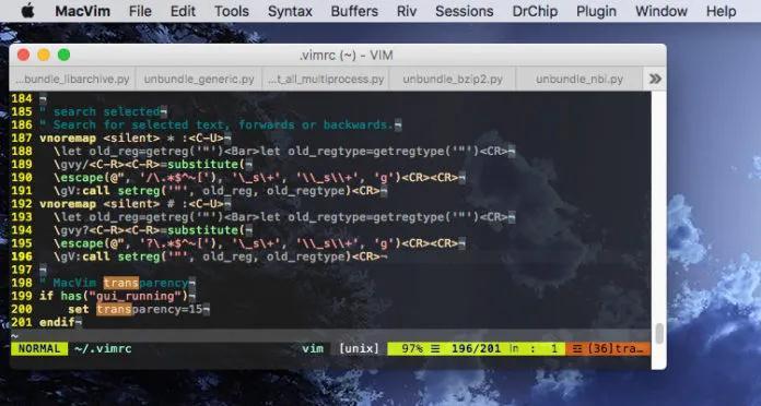 MacVim Text Editor
