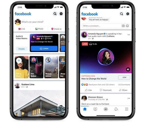 Facebook Live Audio Rooms Feature Look