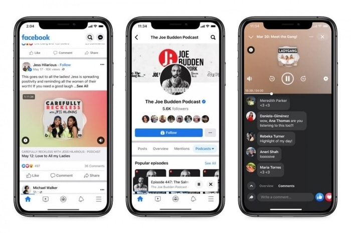 Facebook Podcast Feature Look