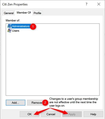 Add Member of Administrator