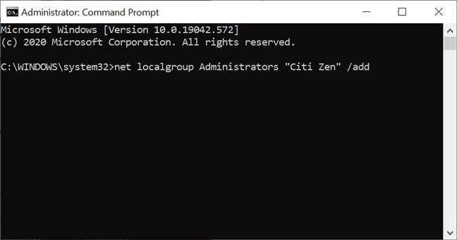 net localgroup Administrators user add