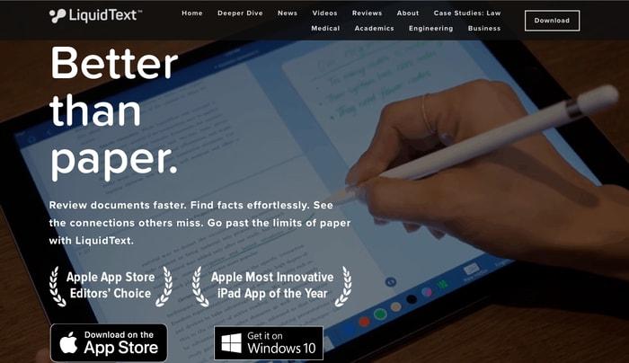 Liquid Text PDF Reader
