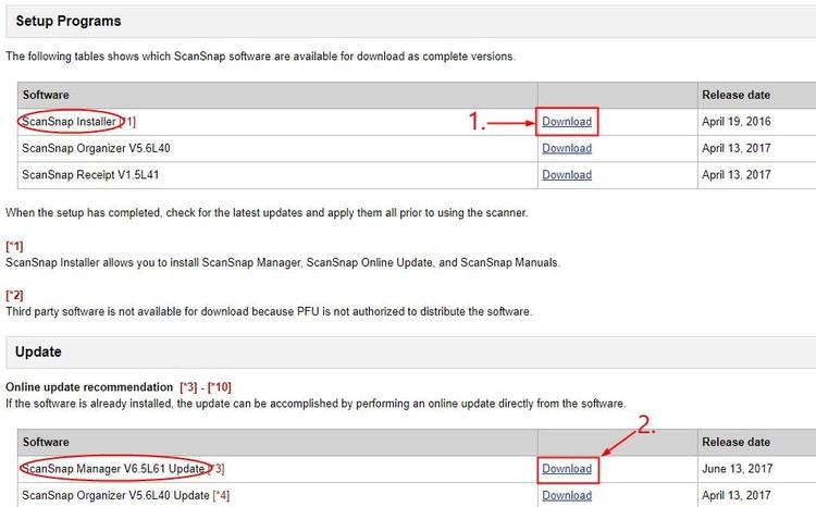 Download ScanSnap Installer