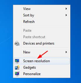 Choose the Screen Resolution